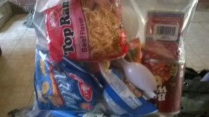 You can stuff a lot in a gallon sized freezer bag.